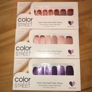 NWT Lot Set of 3 Color Street Nail Sets